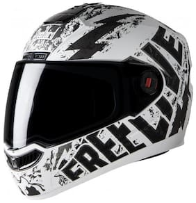 cc78300e1 Steelbird Air SBA 1 Free Live Full Face Helmet (Mat White with Grey M Plain