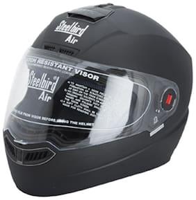 Steelbird Air SBA-1 Full Face Helmet Glossy Matt Black (1 Piece)