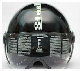 Steelbird SB 42 BARGY RACE TRACK A9 Motorbike Helmet (Black)