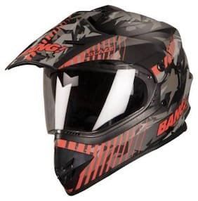 Steelbird SB-42 BANG BLAZE Motorbike Helmet (MAT BLACK-RED)