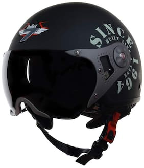 Steelbird SB-27-TANK-M-BLK-M-GRN-M Skating Helmet Black Color