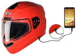 Steelbird SBA-1 7Wings Hands Free Dashing Full Face Helmet with Plain Visor (MEDIUM 580 MM;Red)