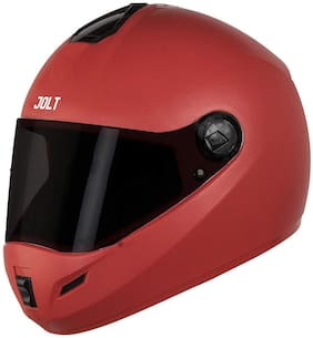 Steelbird SB-39 Jolt 7Wings Classic Full Face Helmet (Large 600 MM;Red with Smoke Visor)