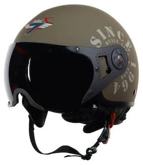 Steelbird SB-27 7Wings Tank Motorbike Helmet Green Color
