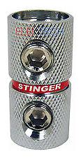 Stinger SPT5210 Power Wire Coupler Barrel Splice1//0 Gauge Input//Output Chrome