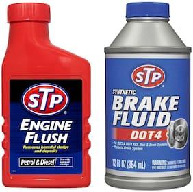 STP Engine Flush 450 ml & STP Dot 4 Synthetic Brake Fluid 354 ml