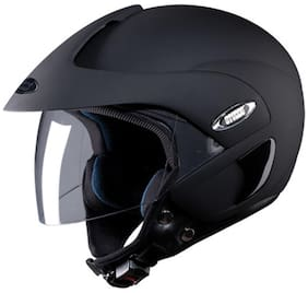 8040a617558 Studds Marshall Open Face Helmet Matte Black