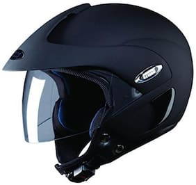 Studds Marshall Open Face Helmet (Matt Black) (1 Piece)