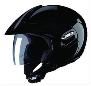 Studds Marshall Open Face Helmet Black