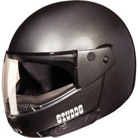 Studds Ninja Pastel Plain Full Face Helmet Gun Grey