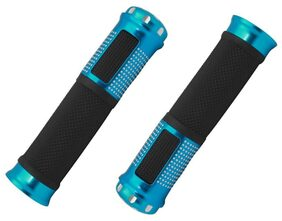 Stylish Bike Handle Grips For All Bikes And Scooty (Blue)