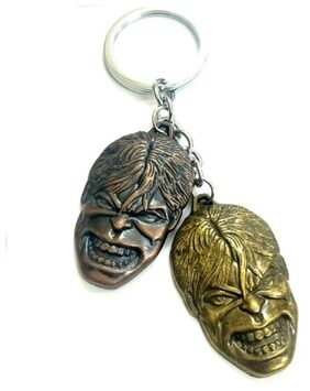 Superhero Incredible Marvel Avenger Hulk Dual Face Keychain-1Pc- Assorted Color Sold by Evershine Gifts And Household