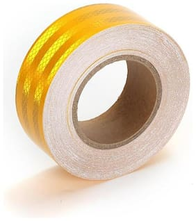 Superior Quality Imported 5.08 cm (2 Inch) Reflective Radium Tape - 24 Ft. Yellow Strip