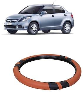 Swift DZire_Black&Orange_Steering Cover