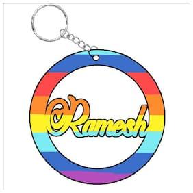SY Gifts Ramesh   Rainbow  Name Keychain