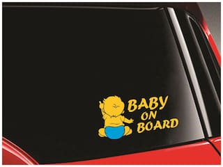 SYGA 'Baby On Board' Baby Pointing Car Stickers
