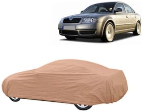 Takecare Beige Matty Car Body Cover For Scoda Superb Old(1 Piece)