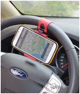 Takecare Car Steering Wheel Mobile Holder For Hyundai Santro Xing
