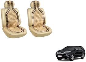 Takecare Car Wooden Bead Seat Cover For Toyota Fortuner Old (Beige)