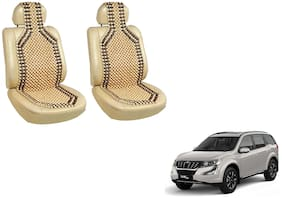 Takecare Car Wooden Bead Seat Cover For Mahindra XUV 500 (Beige)