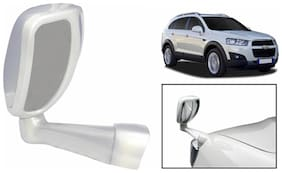 Takecare Front Fender Suv Wide Angle Mirror White For Chevrolet Captiva (1 Piece)