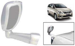 Takecare Front Fender Suv Wide Angle Mirror White For Toyota Innova Type-2 2009-2013 (1 Piece)