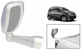 Takecare Front Fender Suv Wide Angle Mirror White For Mahindra Quanto (1 Piece)