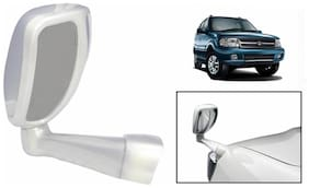 Takecare Front Fender Suv Wide Angle Mirror White For Tata Safari Storme (1 Piece)