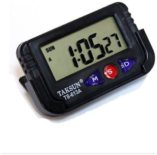 Taksun Car Dashboard / Office Desk Alarm Clock And Stopwatch With Flexible Stand