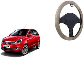 Tata Bolt Beige Colour Steering Cover Netted Design