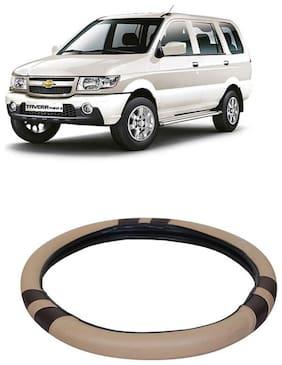 Tavera Beige&Black Steering Cover