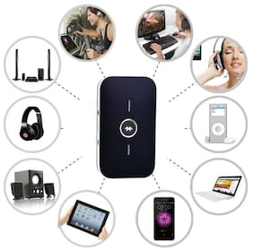 Tech Gear Bluetooth 4.1 Transmitter Receiver  Portable 2-in-1 Wireless 3.5mm Audio Adapt