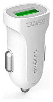 Tessco DC-254 Rapid Car Charger for Android, iOS and Compatible Devices (Single USB) 1A - (White)
