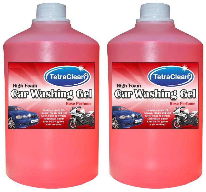 Tetra Clean High Foam Car Shampoo Car Washing Liquid  2 L  by Touch And Glow