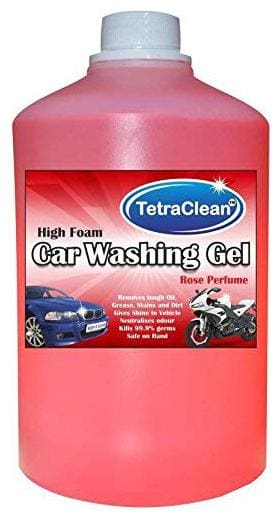 Tetraclean High Foam Car Shampoo Car Washing Liquid- Rose Scented (1 L)