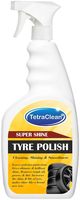 TetraClean Wheel Tyre Polish and Cleaner for Cleaning, Shining & Smoothness of Tyres in Spray Bottle (500 ml)