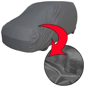 TGP GROUP BRANDED ( A1 QUALITY ) Grey Color Car Body Cover For Mahindra Scorpio With Antenna Mirror Pocket