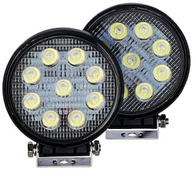 THE ONE CUSTOM Round Car Auxiliary 9LED Fog Lights Set Of 2 FOR TOYOTA INNOVA