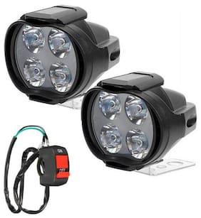 THE ONE CUSTOM 4 LED Car-Bike Fog Light Spot Beam Off Road Driving Fog LED Light Lamp 2Pcs With On-Off Switch