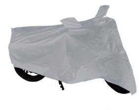 TheGrowStore- Silver Bike Body Cover for Bajaj Pulsar 150 DTS- I with mirror pocket