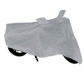 TheGrowStore- Bike Body Cover for TVS Scooty Streak Silver Color with mirror pocket