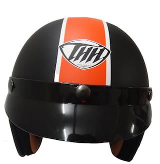 051409e6 Buy Thh Fh 356 Open Face Helmet Black Orange Star Online at Low ...