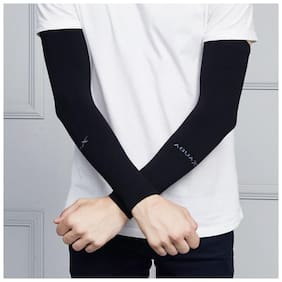 Thin Arm Sleeve For Men & Women-AQUA Arm sleeve (Black)