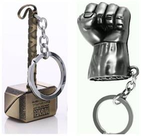 Thor Hammer And Hulk Combo Key Chain(assorted)