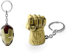 Three Shades Hulk Keychain & Iron man Mask Key Chain Face Keychain Iron Man