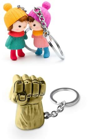 Three Shades Hulk Keychain & Couple Keychain Combo Pack of 2 Keychain