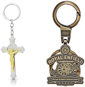 Three Shades Royal Enfield Logo metal keyring Locking Key Chain Combo Pack_046