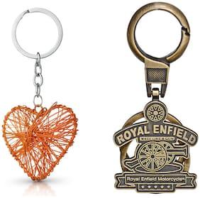 Three Shades Royal Enfield Logo metal keyring Locking Key Chain Combo Pack_039