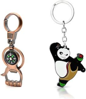 Three Shades Kung Fu Panda Animal Cartoon Character Metal Key Chain Combo Keychain_003