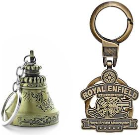 Three Shades Royal Enfield Logo metal keyring Locking Key Chain Combo Pack_017